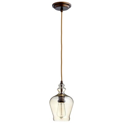 Calista 1-Light Mini Pendant Shade Color: Beige