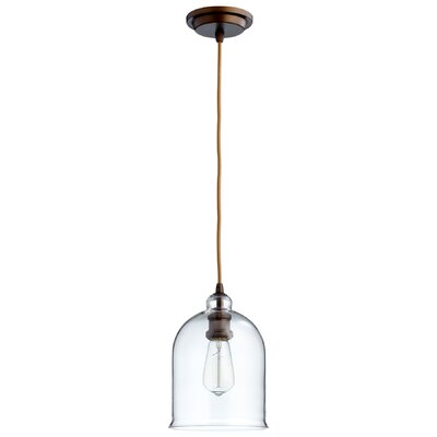 Celia 1-Light Mini Pendant Shade Color: Clear