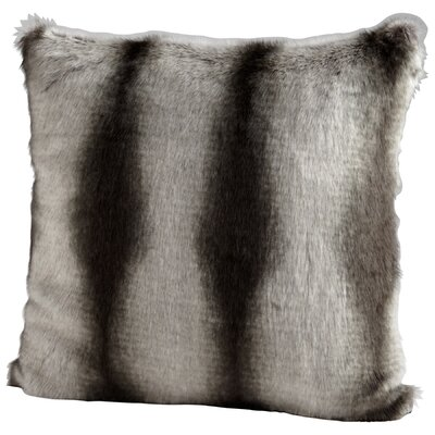 Faux Chinchilla Throw Pillow