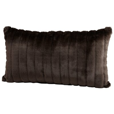 Faux Beaver Lumbar Pillow