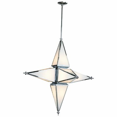 6-Light Geometric Pendant Finish: Chrome, Size: Large