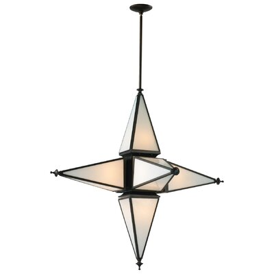 6-Light Pendant Size: Large, Finish: Oiled Bronze