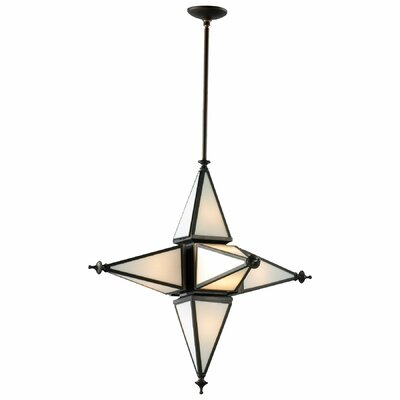 6-Light Pendant Finish: Oiled Bronze, Size: Small