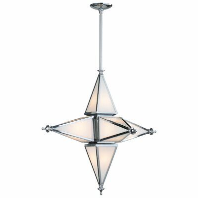 6-Light Geometric Pendant Finish: Chrome, Size: Small