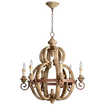 Atocha 6-Light Candle-Style Chandelier