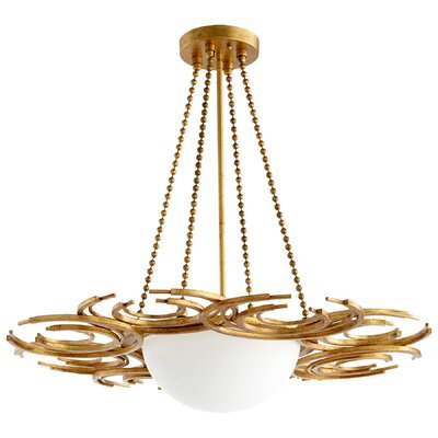 Vivian 3-Light Bowl Pendant Finish: Gold