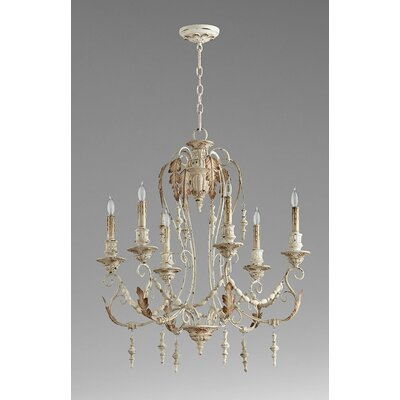 Lolina 6-Light Candle-Style Chandelier Finish: Persian White