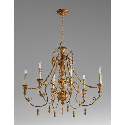 Lyon 6-Light Candle-Style Chandelier Finish: French Umber