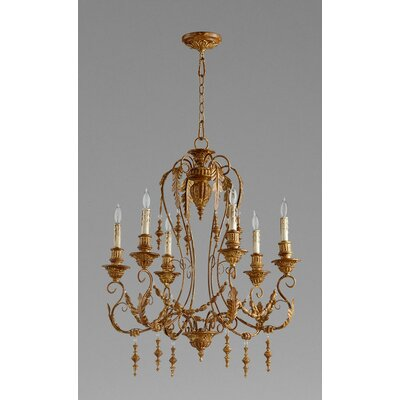 Lolina 6-Light Candle-Style Chandelier Finish: French Umber