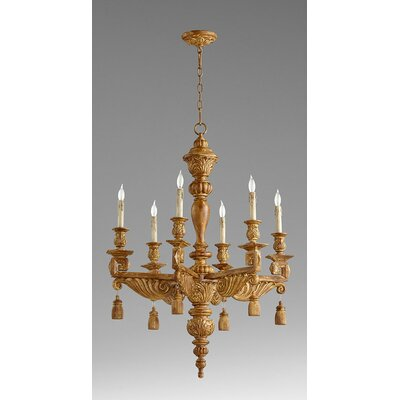 Brenton 6-Light Candle-Style Chandelier Finish: French Umber