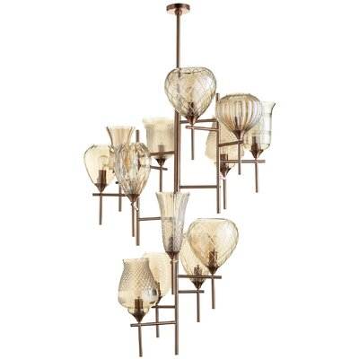 Darcey 13-Light Shaded Chandelier
