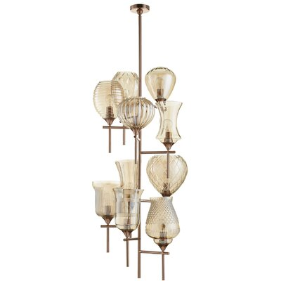 Darcey 10-Light Shaded Chandelier