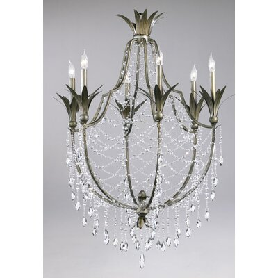 Luciani 6-Light Crystal Chandelier