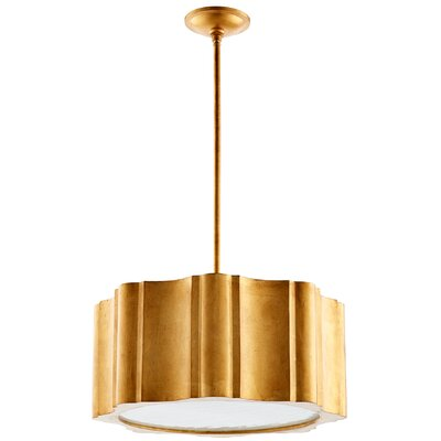 6-Light Drum Pendant Finish: Gold