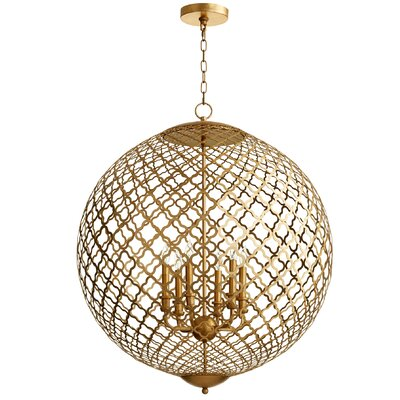 Skyros 6-Light Globe Pendant Finish: Gold