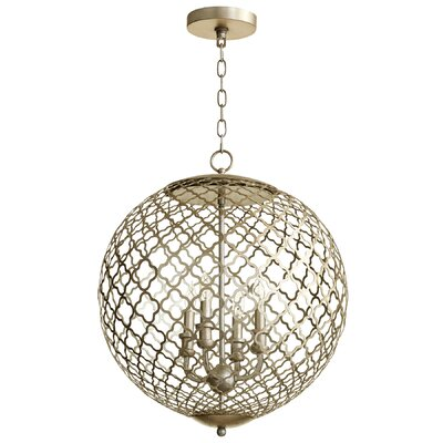 Skyros 4-Light Globe Pendant Finish: Silver