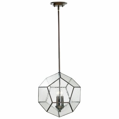 Pentagon 3-Light Globe Pendant Finish: Oiled Bronze