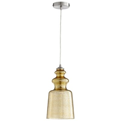 Leone 1-Light Mini Pendant Shade Color: Gold