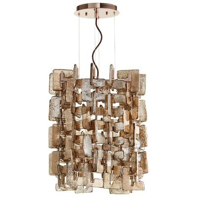 Havilland 4-Light Crystal Pendant Finish: Copper/Satin Copper
