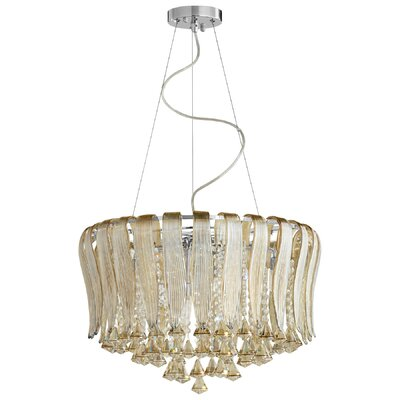 Olivia 8-Light Crystal Chandelier