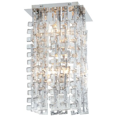 Athropolis 4-Light Flush Mount Finish: Silver/Chrome