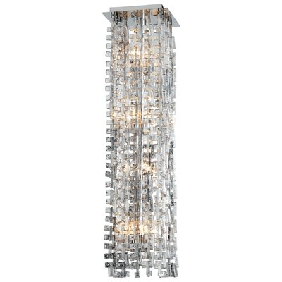 Athropolis 8-Light Flush Mount Finish: Silver/Chrome