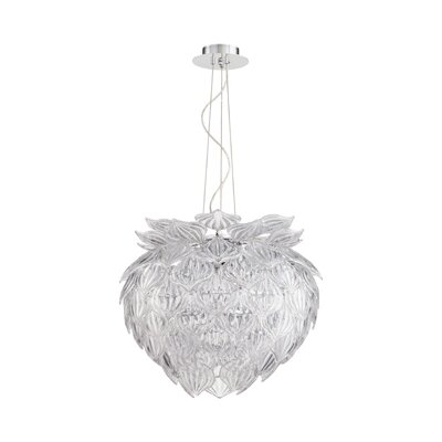 Okey Dokey 9-Light Geometric Pendant Shade Color: Clear