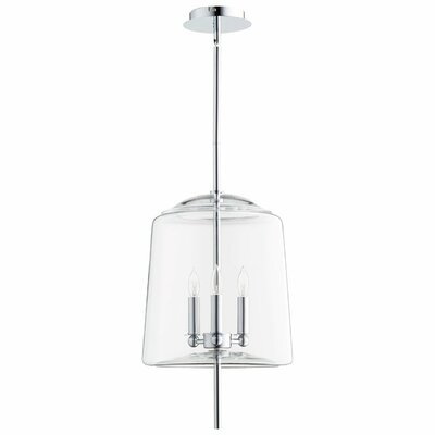 Lusterous 3-Light Mini Pendant Finish / Shade Color: Chrome / Clear Glass