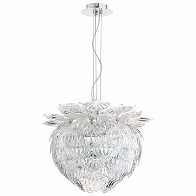 Okey Dokey 6-Light Geometric Pendant Shade Color: Clear
