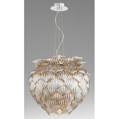Okey Dokey 9-Light Geometric Pendant Shade Color: Cognac