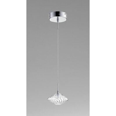 Clive 1-Light Mini Pendant Finish / Shade Color: Chrome / Clear Glass