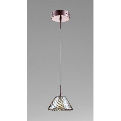 Orson 1-Light Mini Pendant Finish / Shade Color: Satin Copper / Cognac Glass