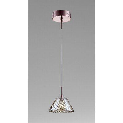 Orson 1-Light Mini Pendant Finish / Shade Finish: Satin Copper / Cognac Glass