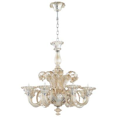 La Scala 8-Light Candle-Style Chandelier Shade Color: Cognac