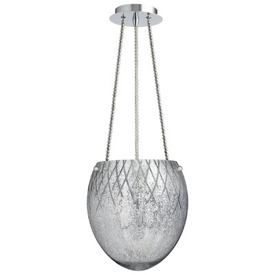 3-Light Bowl Pendant Shade Color: Silver