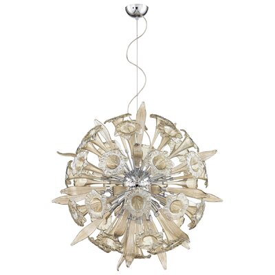 Remy 16-Light Globe Pendant Shade Color: Cognac
