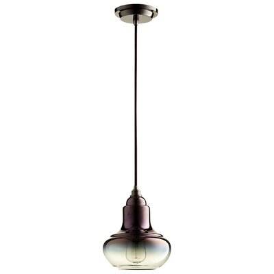 Camille 1-Light Mini Pendant Finish: Coffee Ombre
