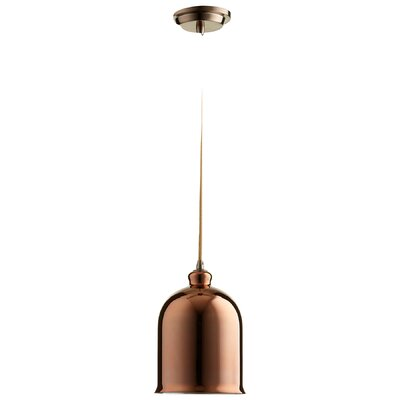 Celia 1-Light Mini Pendant Finish: Copper