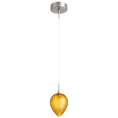 Spheroid 1-Light Mini Pendant Shade Color: Orange