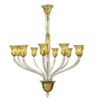 Vetrai 10-Light Candle-Style Chandelier