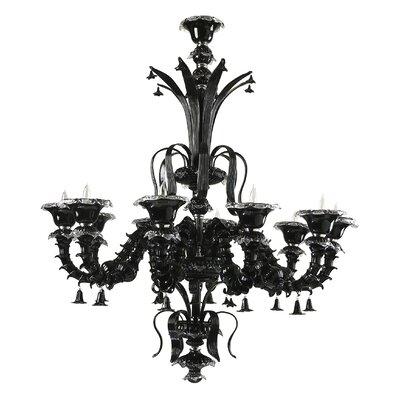 Venetian Noir 10-Light Candle-Style Chandelier
