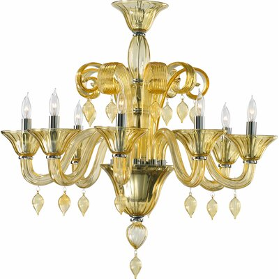 Treviso 8-Light Candle-Style Chandelier Color: Amber