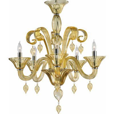 Treviso 5-Light Candle-Style Chandelier Color: Amber