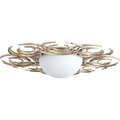 Vivian 2-Light Flush Mount Finish: Aged Silver
