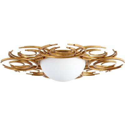 Vivian 2-Light Flush Mount Finish: Gold