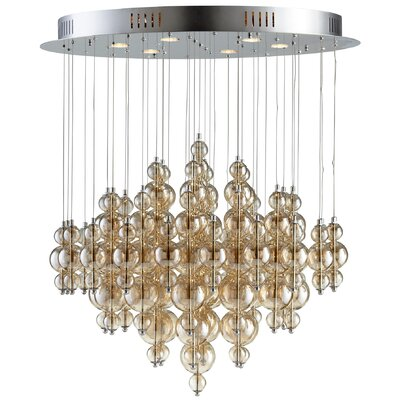 Bubbles Cash 6-Light Flush Mount