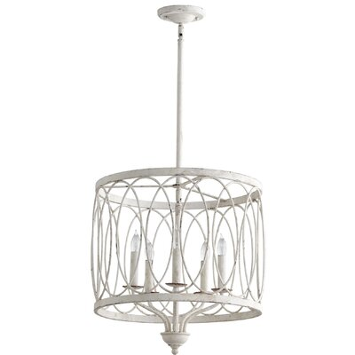 5-Light Drum Pendant Finish: Persian White