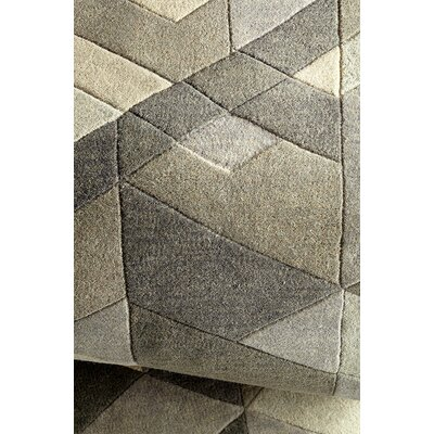 Facets Hand-Tufted Sage Area Rug Rug Size: 5 x 77