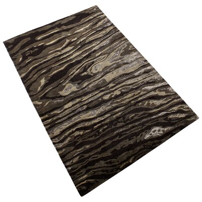 Foxtail Hand-Tufted Charcoal Area Rug Rug Size: 5 x 76