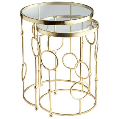 Perseus 2 Piece Nesting Table Set